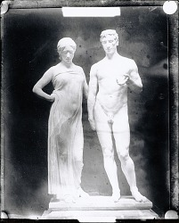 No Title Given: Man and Woman Figures [sculpture] / (photographed by Peter A. Juley & Son)