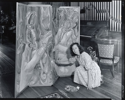 Elizabeth Tashjian in her studio [photograph] / (photographed by Peter A. Juley & Son)