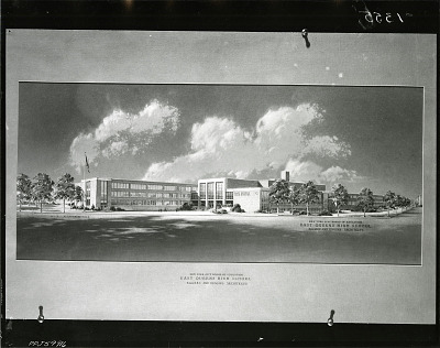 East Queens High School [art work] / (photographed by Peter A. Juley & Son)