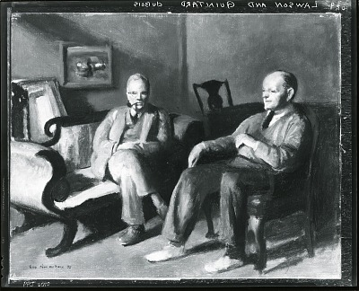 Ernest Lawson and Dr. Quintard [painting] / (photographed by Peter A. Juley & Son)