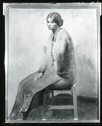 Sketch of a Woman, Garnes [painting] / (photographed by Peter A. Juley & Son)