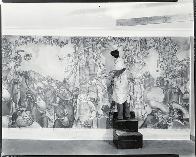 Camilo Egas at work on his