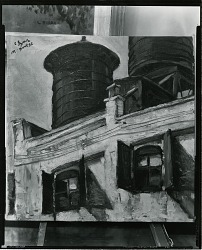 Water Towers [painting] / (photographed by Peter A. Juley & Son)