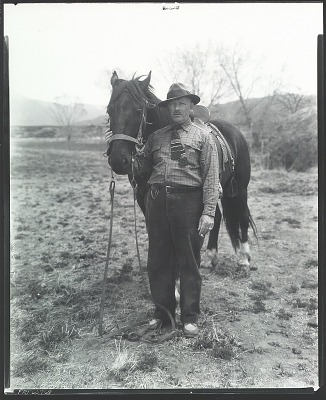 Leon Gaspard with horse [photograph] / (photographed by Peter A. Juley & Son)