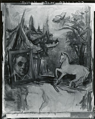 Still Life with Horse [painting] / (photographed by Peter A. Juley & Son)