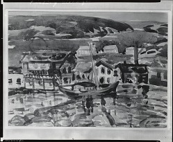 Fishing Village [painting] / (photographed by Peter A. Juley & Son)