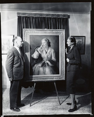 Alexander Benjamin Clayton with sitter Katherine Cornell [photograph] / (photographed by Peter A. Juley & Son)