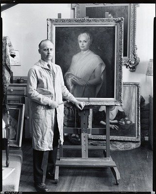 Alexander Benjamin Clayton in his studio [photograph] / (photographed by Peter A. Juley & Son)