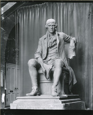 Thomas Jefferson (model for bronze, Cleveland, Ohio) [sculpture] / (photographed by Peter A. Juley & Son)