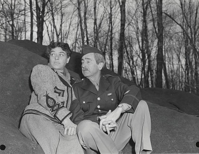 George Biddle in military uniform and his wife Helene Sardeau [photograph] / (photographed by Peter A. Juley & Son)