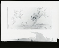 Rodeo Sketch: Cowgirls [drawing] / (photographed by Peter A. Juley & Son)