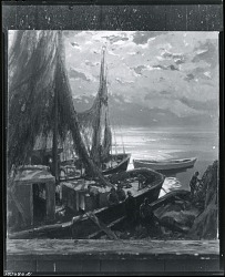 Trawlers in the Moonlight [painting] / (photographed by Peter A. Juley & Son)