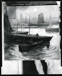 In the Harbor [painting] / (photographed by Peter A. Juley & Son)
