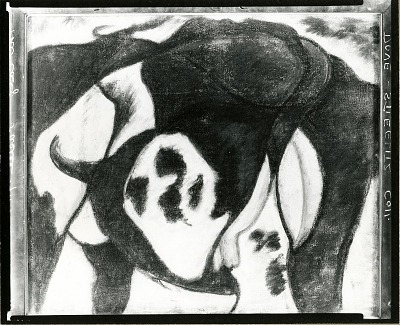 Cow [drawing] / (photographed by Peter A. Juley & Son)