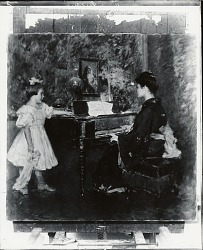 The Music Lesson [painting] / (photographed by Peter A. Juley & Son)