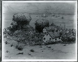 Coastal Town [drawing] / (photographed by Peter A. Juley & Son)