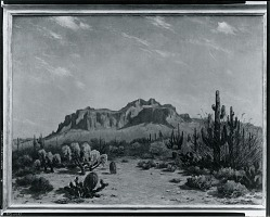 Western Landscape with Cactus [painting] / (photographed by Peter A. Juley & Son)