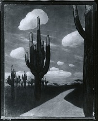 Cactus [painting] / (photographed by Peter A. Juley & Son)