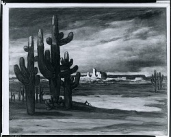 Landscape with Cactus [painting] / (photographed by Peter A. Juley & Son)