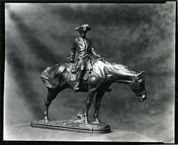 Colonial Figure on Horseback [sculpture] / (photographed by Peter A. Juley & Son)