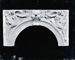 Model for an Arch with Classical Figures [sculpture] / (photographed by Peter A. Juley & Son)