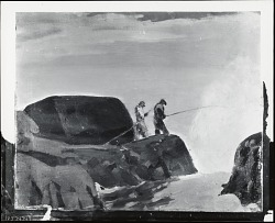 Cunner Rock [painting] / (photographed by Peter A. Juley & Son)