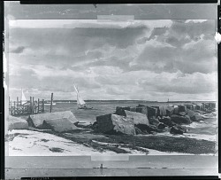 The Breakwater [painting] / (photographed by Peter A. Juley & Son)