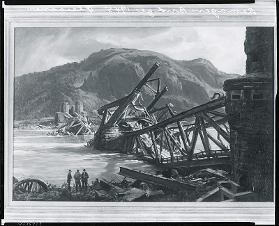 Remagen Bridge [painting] / (photographed by Peter A. Juley & Son)