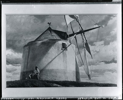 Mill in the Algarve [painting] / (photographed by Peter A. Juley & Son)