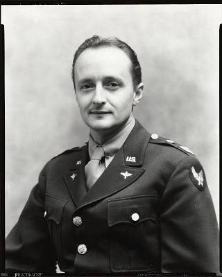 Ogden Pleissner in military uniform [photograph] / (photographed by Peter A. Juley & Son)