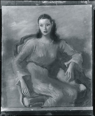 Gloria Vanderbilt [painting] / (photographed by Peter A. Juley & Son)