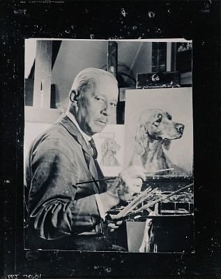 Edwin Megargee in his studio [photograph] / (photographed by Peter A. Juley & Son)