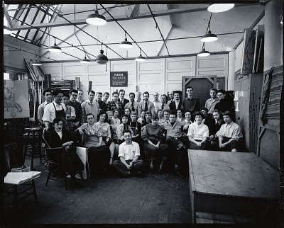 Yasuo Kuniyoshi with his class [photograph] / (photographed by Peter A. Juley & Son)