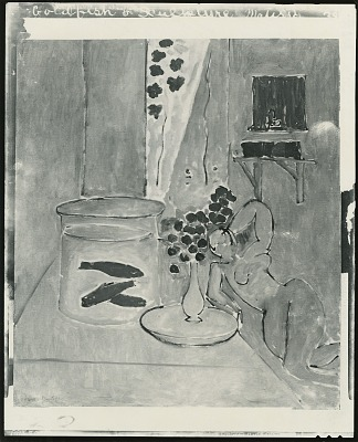 Goldfish and Sculpture [painting] / (photographed by Peter A. Juley & Son)