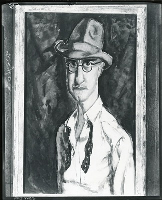 Self Portrait with Hat [painting] / (photographed by Peter A. Juley & Son)