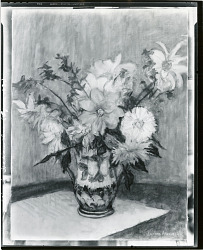 Dahlias in Italian Vase [art work] / (photographed by Peter A. Juley & Son)