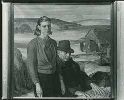 Zilpha and the Clam Digger [painting] / (photographed by Peter A. Juley & Son)