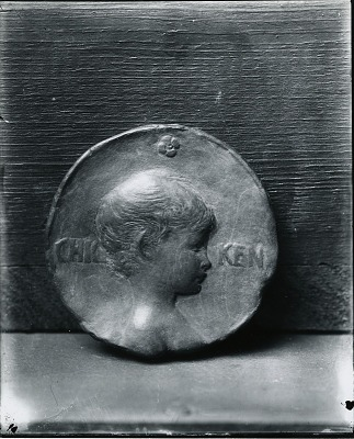 Chicken, Portrait Medallion [sculpture] / (photographed by Peter A. Juley & Son)
