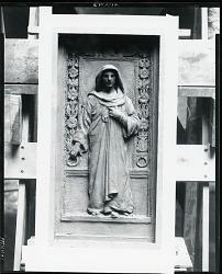 Collis P. Huntington Mausoleum Door (sketch?) [sculpture] / (photographed by Peter A. Juley & Son)
