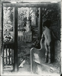 Portrait of a Girl on a Porch [painting] / (photographed by Peter A. Juley & Son)