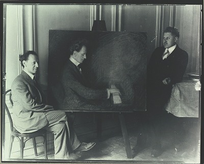 Eric Maunsbach in his studio with Vladimir Horowitz [photograph] / (photographed by Peter A. Juley & Son)