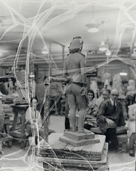 John Hovannes sculpture class at the Art Students League, New York [photograph] / (photographed by Peter A. Juley & Son)