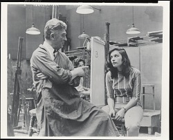 Art Students League instructor with student [photograph] / (photographed by Peter A. Juley & Son)