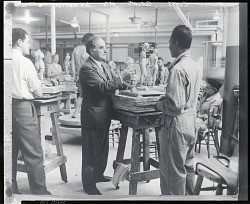 William Zorach teaching at the Art Students League, New York [photograph] / (photographed by Peter A. Juley & Son)