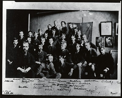 Thomas Wilmer Dewing with his class at the Art Students League, New York [photograph] / (photographed by Peter A. Juley & Son)