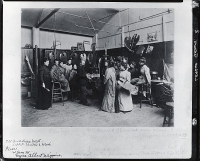 William Merritt Chase with his class at the Art Students League, New York [photograph] / (photographed by Peter A. Juley & Son)