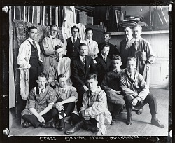 Kenneth Hayes Miller with his class at the Art Students League, New York [photograph] / (photographed by Peter A. Juley & Son)