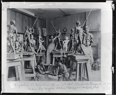 Augustus Saint-Gaudens's class at the Art Students League, New York [photograph] / (photographed by Peter A. Juley & Son)
