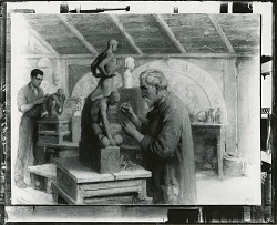 The Sculptors [painting] / (photographed by Peter A. Juley & Son)