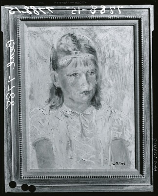 Portrait of a Girl [painting] / (photographed by Peter A. Juley & Son)